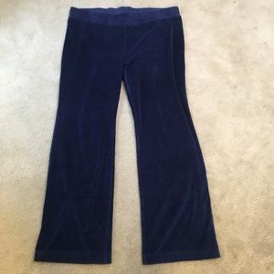 J Pure Jill Velvet High Rise Leggings - Navy Blue
